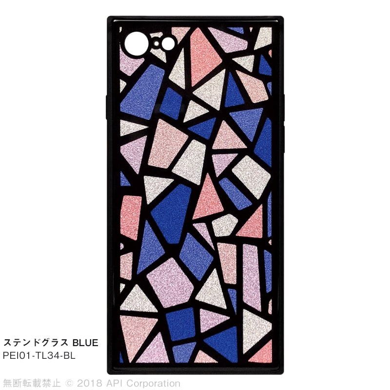 iPhone 8/7ケース TILE スクエア型 [STAINED GLASS]