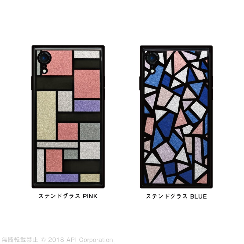 iPhone XR ケース TILE スクエア型 [STAINED GLASS]