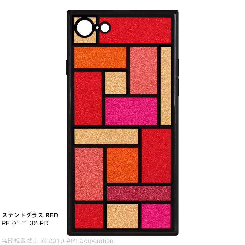 iPhone 8/7ケース TILE スクエア型[EC限定 STAINED GLASS]