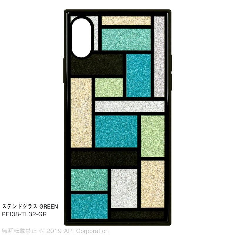 iPhone XS/Xケース TILE スクエア型[EC限定 STAINED GLASS]