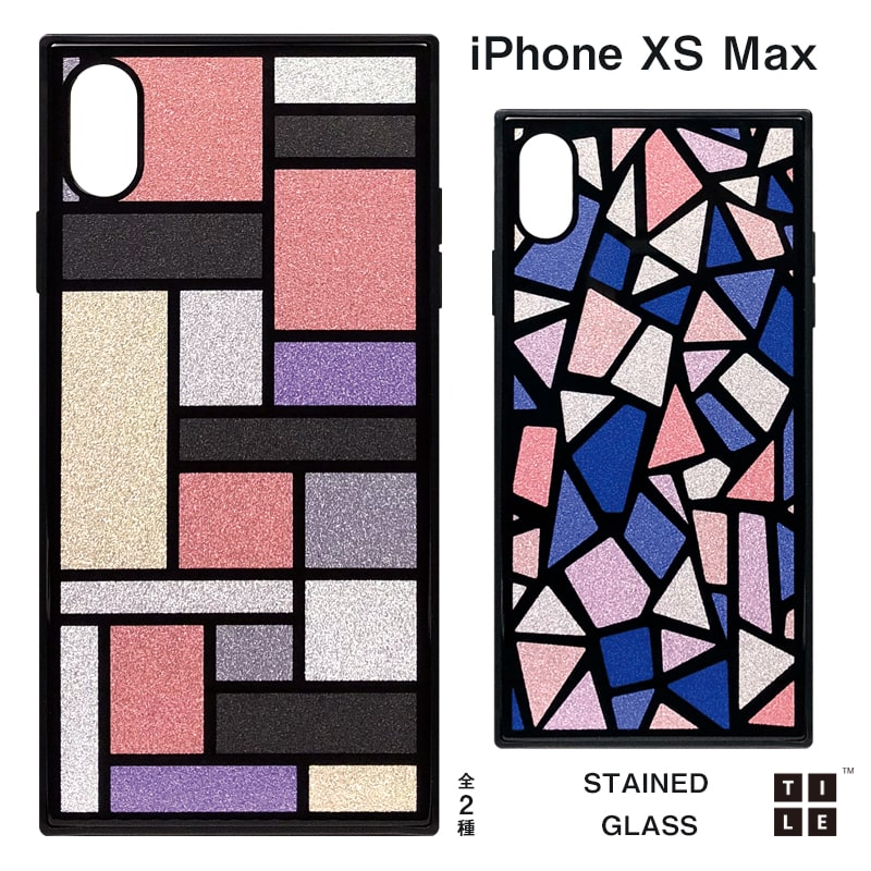 iPhone XS Maxケース TILE スクエア型 [STAINED GLASS]