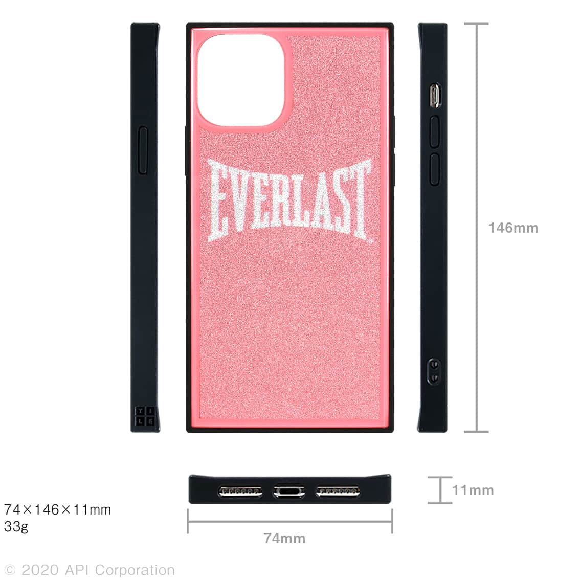 EVERLAST iPhone 11Pro TILE スクエア型ケース