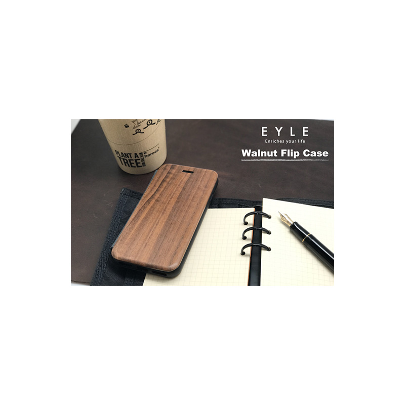 EYLE Walnut Flip Case for iPhone 7 / 6s / 6